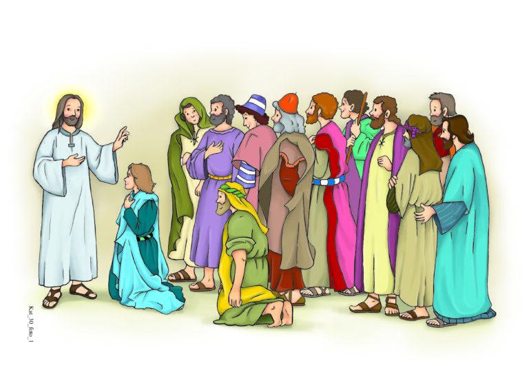 Pan Jezus daje apostołom władzę odpuszczania grzechów, str. 74